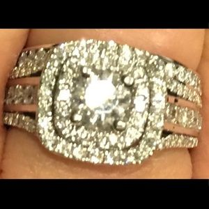 Diamond & 14k White Gold Set